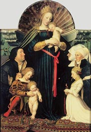 Darmstadt Madonna, c.1526/28 by Hans Holbein | Painting Reproduction