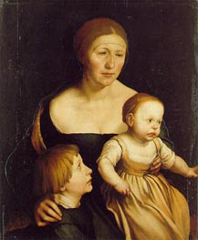 The Artist's Wife Elsbeth and her Two Children, c.1528 von Hans Holbein | Gemälde-Reproduktion