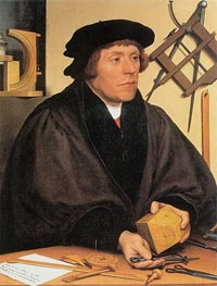 Portrait of Nikolaus Kratzer | Hans Holbein | Painting Reproduction