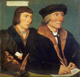 Portrait of Sir Thomas Godsalve and His Son John, 1528 von Hans Holbein | Gemälde-Reproduktion