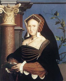 Portrait of Lady Mary Guildford, 1527 von Hans Holbein | Gemälde-Reproduktion