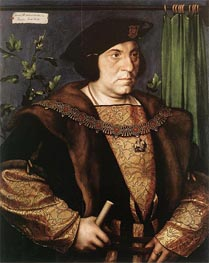 Portrait of Sir Henry Guildford, 1527 von Hans Holbein | Gemälde-Reproduktion
