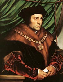 Portrait of Sir Thomas More, 1527 von Hans Holbein | Gemälde-Reproduktion