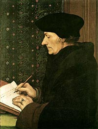Portrait of Erasmus of Rotterdam Writing | Hans Holbein | Painting Reproduction