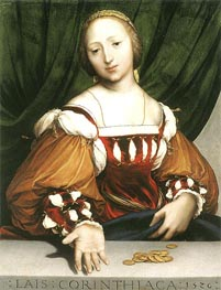 Lais of Corinth, 1526 by Hans Holbein | Painting Reproduction