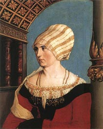 Portrait of Dorothea Meyer, nee Kannengiesser | Hans Holbein | Painting Reproduction