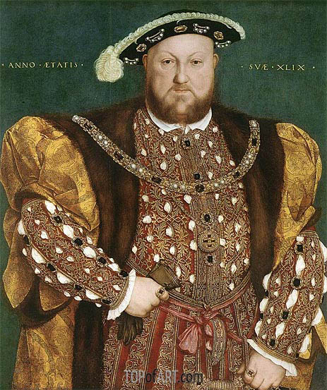 Portrait of Henry VIII, c.1540 | Hans Holbein | Painting Reproduction