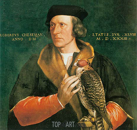 Portrait of Robert Cheseman, 1533 | Hans Holbein | Painting Reproduction