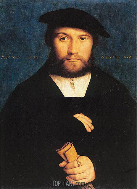 Portrait of Hermann Hillebrandt de Wedigh, 1533 | Hans Holbein | Painting Reproduction