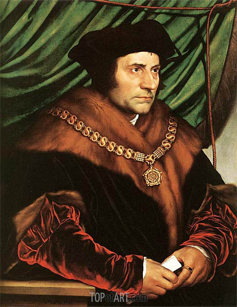 Portrait of Sir Thomas More, 1527 | Hans Holbein | Painting Reproduction