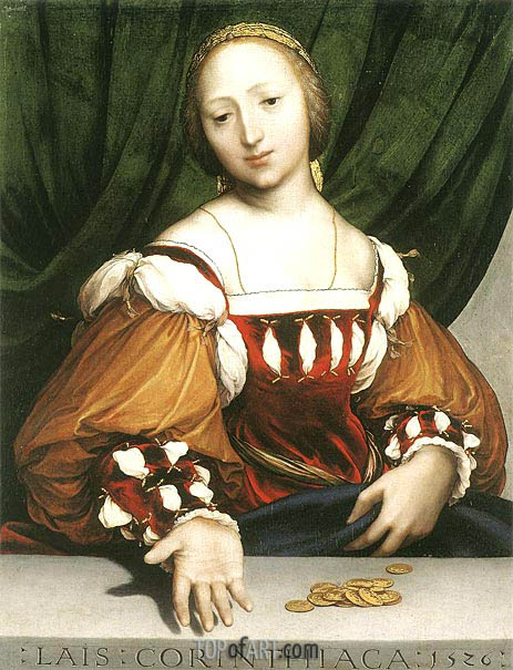 Lais of Corinth, 1526 | Hans Holbein | Painting Reproduction