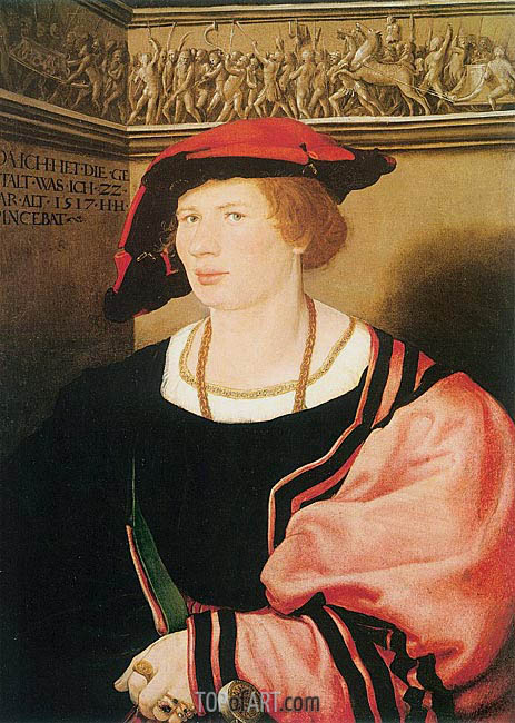 Portrait of Benedikt von Hertenstein, 1517 | Hans Holbein | Painting Reproduction