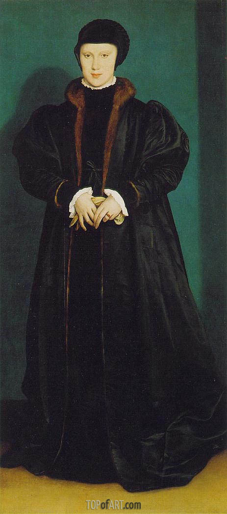Portrait of Christina of Denmark, c.1538 | Hans Holbein | Painting Reproduction
