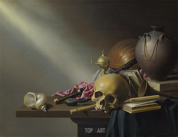 Still Life: An Allegory of the Vanities of Human Life, c.1640 | Harmen Steenwijck | Painting Reproduction