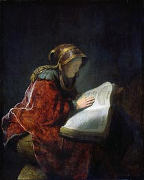 The Prophetess Anna (known as Rembrandt's Mother), 1631 von Rembrandt | Gemälde-Reproduktion