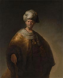 Man in Oriental Costume (The Noble Slav), 1632 von Rembrandt | Gemälde-Reproduktion