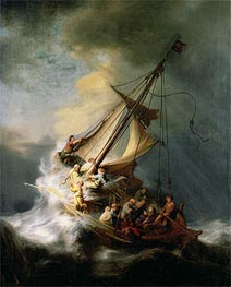 Storm on the Sea of Galilee, 1633 by Rembrandt | Painting Reproduction