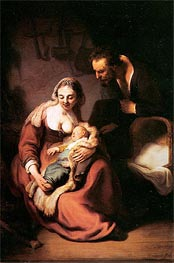 The Holy Family, c.1630 von Rembrandt | Gemälde-Reproduktion