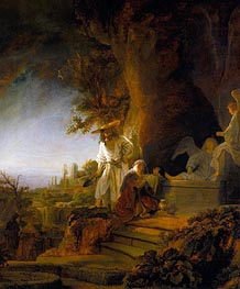 Christ and St Mary Magdalene at the Tomb | Rembrandt | Painting Reproduction