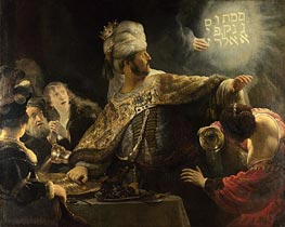 Belshazzar's Feast | Rembrandt | Painting Reproduction