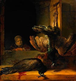 Dead Peacocks | Rembrandt | Gemälde Reproduktion