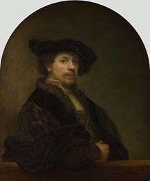 Self Portrait at the Age of 34 | Rembrandt | Gemälde Reproduktion