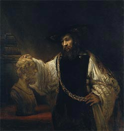 Aristotle with a Bust of Homer, 1653 von Rembrandt | Gemälde-Reproduktion