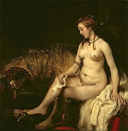 Bathsheba at Her Bath, 1654 von Rembrandt | Gemälde-Reproduktion