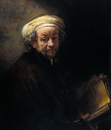Self Portrait as Apostle Paul, 1661 von Rembrandt | Gemälde-Reproduktion