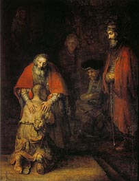 The Return of the Prodigal Son, c.1668 von Rembrandt | Gemälde-Reproduktion
