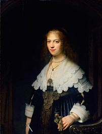 Portrait of Maria Trip | Rembrandt | Painting Reproduction