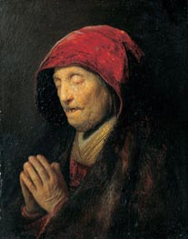 Old Woman Praying (Rembrandt's Mother Praying) | Rembrandt | Gemälde Reproduktion