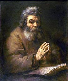 Old Man Praying | Rembrandt | Gemälde Reproduktion