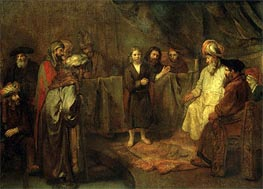 The Twelve Year Old Jesus in Front of the Scribes, c.1655 von Rembrandt | Gemälde-Reproduktion