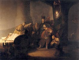Repentant Judas Returning The Pieces Of Silver | Rembrandt | Painting Reproduction