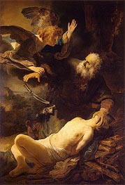 The Sacrifice of Abraham | Rembrandt | Gemälde Reproduktion