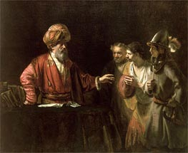 The Centurion Cornelius (The Unmerciful Servant), c.1660 by Rembrandt | Painting Reproduction