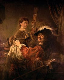 Self Portrait with Saskia in the Parable of the Prodigal Son | Rembrandt | Painting Reproduction