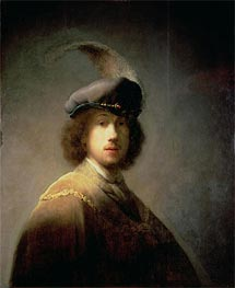 Self Portrait, 1629 by Rembrandt | Painting Reproduction