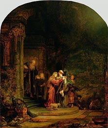 The Visitation, 1640 by Rembrandt | Painting Reproduction