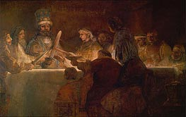 The Conspiracy of the Batavians under Claudius Civilis | Rembrandt | Gemälde Reproduktion