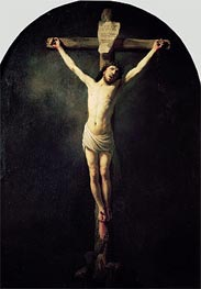 Christ on the Cross, Undated by Rembrandt | Painting Reproduction