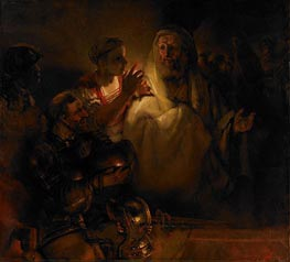 The Denial of St. Peter, 1660 by Rembrandt | Painting Reproduction
