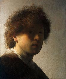 Self Portrait as a Young Man, c.1628 by Rembrandt | Painting Reproduction