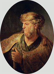 Portrait of a Man in Oriental Costume, 1633 by Rembrandt | Painting Reproduction