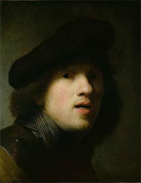 Self Portrait, c.1629 by Rembrandt | Painting Reproduction