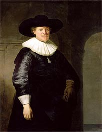 Portrait of a Man, possibly the poet Jan Harmensz. Krul, 1633 by Rembrandt | Painting Reproduction