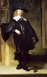 Full Length Portrait of a Standing Man, 1639 von Rembrandt | Gemälde-Reproduktion
