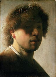 Portrait of Rembrandt with Overshadowed Eyes, Undated by Rembrandt | Painting Reproduction