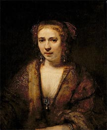 Portrait of Hendrikje Stoffels, Undated by Rembrandt | Painting Reproduction